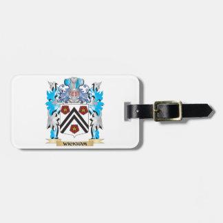 Escudo de armas de Wickham - escudo de la familia Etiquetas Maleta