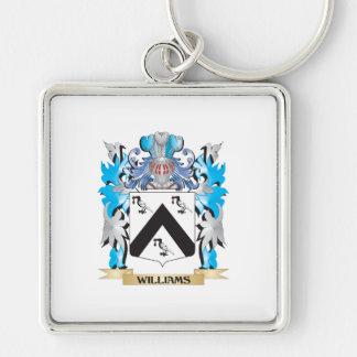 Escudo de armas de Williams - escudo de la familia Llavero Cuadrado Plateado
