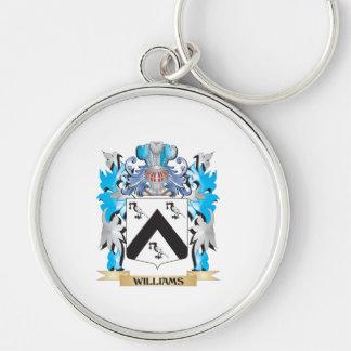 Escudo de armas de Williams - escudo de la familia Llavero Redondo Plateado