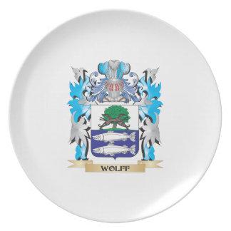 Escudo de armas de Wolff - escudo de la familia Plato De Cena