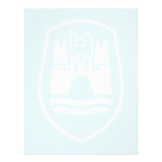 Escudo de armas de Wolfsburgo (blanco) Membretes Personalizados
