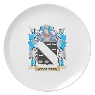 Escudo de armas de Woolston - escudo de la familia Platos Para Fiestas
