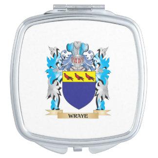 Escudo de armas de Wraye - escudo de la familia Espejo Compacto