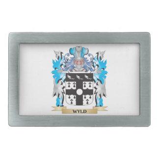 Escudo de armas de Wyld - escudo de la familia Hebilla De Cinturón Rectangular