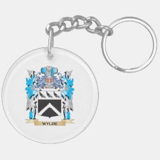 Escudo de armas de Wylde - escudo de la familia Llavero Redondo Acrílico A Doble Cara