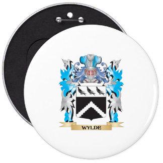 Escudo de armas de Wylde - escudo de la familia Pin Redondo 15 Cm