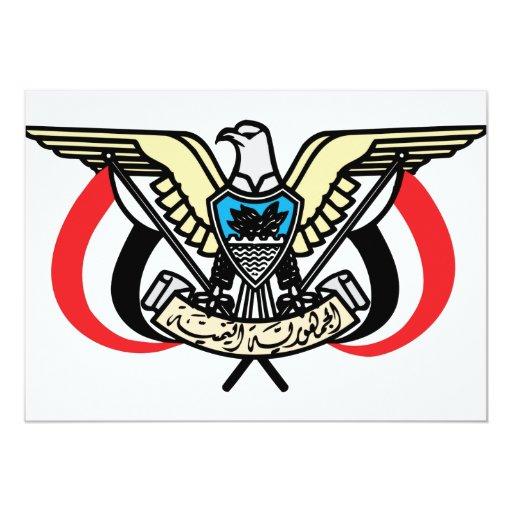"""Escudo de armas de Yemen Invitación 5"""" X 7"""""""