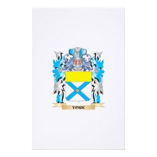Escudo de armas de York - escudo de la familia Papelería De Diseño