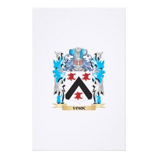 Escudo de armas de York - escudo de la familia Papelería