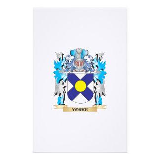Escudo de armas de Yorke - escudo de la familia Papeleria