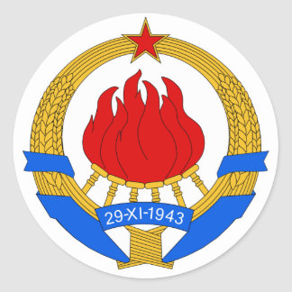 Escudo de armas de Yugoslavia (1945-1992) Pegatina Redonda