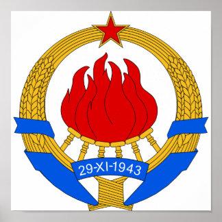 Escudo de armas de Yugoslavia (1945-1992) Póster