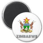 Escudo de armas de Zimbabwe Imán Redondo 5 Cm