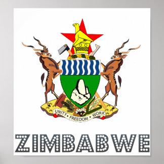 Escudo de armas de Zimbabwe Poster