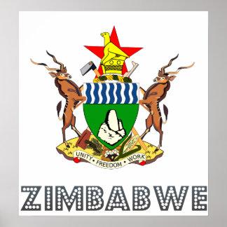 Escudo de armas de Zimbabwe Impresiones