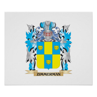 Escudo de armas de Zimmerman - escudo de la Póster
