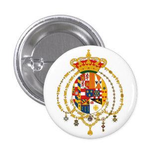 Escudo de armas debido de Sicilie Pin Redondo 2,5 Cm
