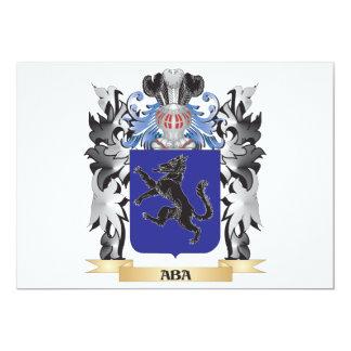 """Escudo de armas del Aba - escudo de la familia Invitación 5"""" X 7"""""""