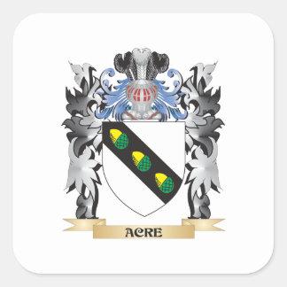 Escudo de armas del acre - escudo de la familia pegatina cuadrada