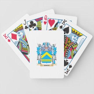 Escudo de armas del aerosol - escudo de la familia baraja de cartas