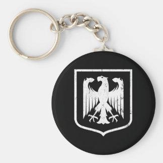 Escudo de armas del alemán Eagle - de Deutschland Llavero Redondo Tipo Pin