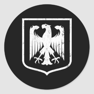 Escudo de armas del alemán Eagle - de Deutschland Pegatina Redonda