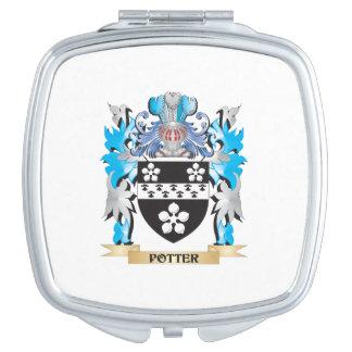 Escudo de armas del alfarero - escudo de la espejos de maquillaje