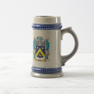 Escudo de armas del alma - escudo de la familia jarra de cerveza