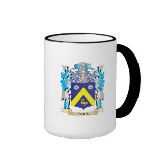 Escudo de armas del alma - escudo de la familia taza a dos colores