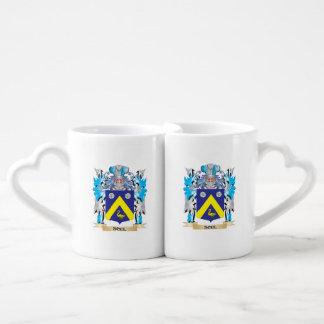 Escudo de armas del alma - escudo de la familia taza para parejas