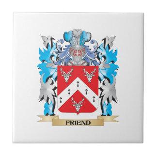 Escudo de armas del amigo - escudo de la familia azulejo cerámica