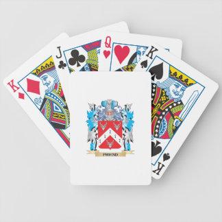 Escudo de armas del amigo - escudo de la familia baraja de cartas