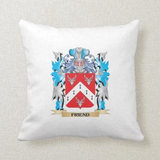 Escudo de armas del amigo - escudo de la familia almohada