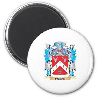 Escudo de armas del amigo - escudo de la familia imán de frigorífico