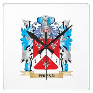 Escudo de armas del amigo - escudo de la familia relojes