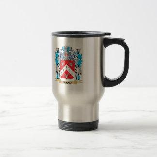 Escudo de armas del amigo - escudo de la familia taza de café
