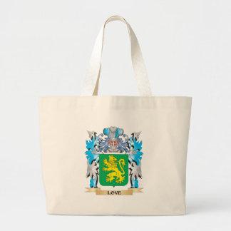 Escudo de armas del amor - escudo de la familia bolsa