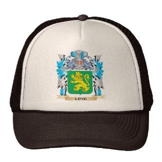 Escudo de armas del amor - escudo de la familia gorras