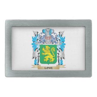 Escudo de armas del amor - escudo de la familia hebillas de cinturón