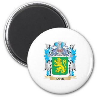 Escudo de armas del amor - escudo de la familia imán de nevera