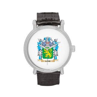 Escudo de armas del amor - escudo de la familia relojes