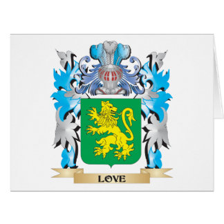 Escudo de armas del amor - escudo de la familia felicitacion