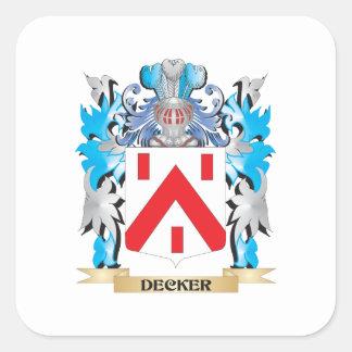 Escudo de armas del apilador - escudo de la pegatina cuadrada