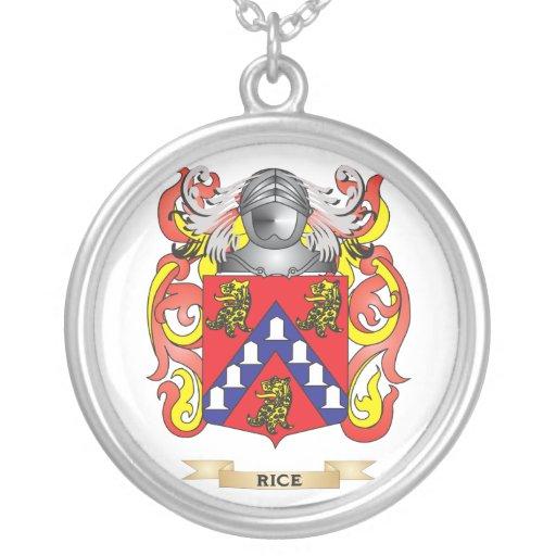 Escudo de armas del arroz (escudo de la familia) colgante redondo