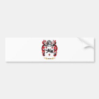 Escudo de armas del banco (escudo de la familia) pegatina para auto