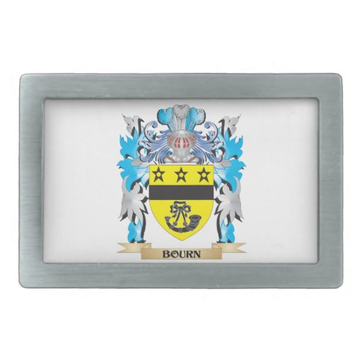 Escudo de armas del Bourn Hebilla De Cinturón Rectangular