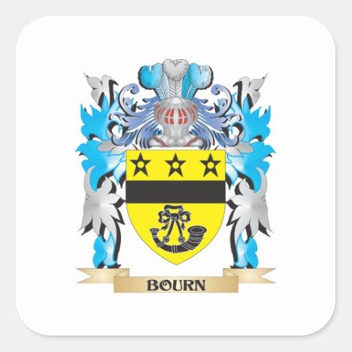 Escudo de armas del Bourn Pegatina Cuadradas Personalizada