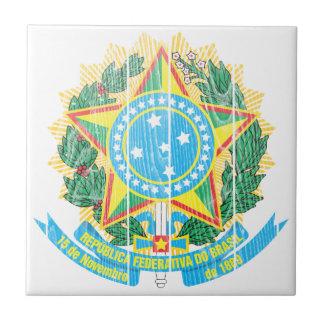 Escudo de armas del Brasil Azulejo Cuadrado Pequeño