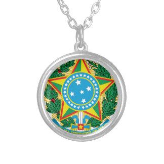 Escudo de armas del Brasil Colgante Redondo