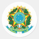 Escudo de armas del Brasil Etiqueta Redonda